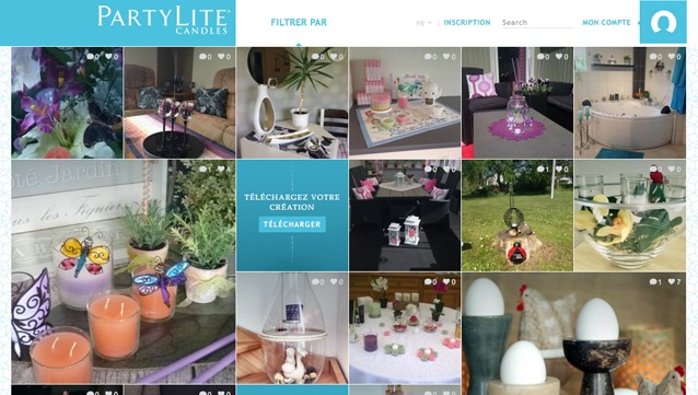 Partylite bougies vente directe